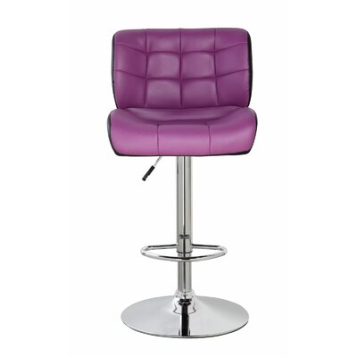Lincolnwood Classic Adjustable Height Swivel Bar Stool Color: Orchid purple/Jet Black