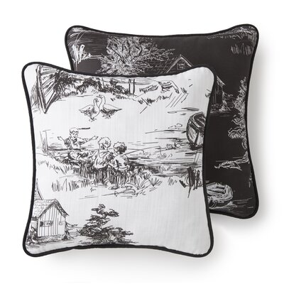 Bergenfield Traditional Cotton Throw Pillow