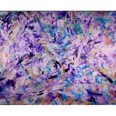'Iridescent Purples' Acrylic Painting Print on Wrapped Canvas