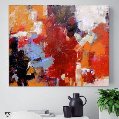 'Eminent' Acrylic Painting Print on Wrapped Canvas
