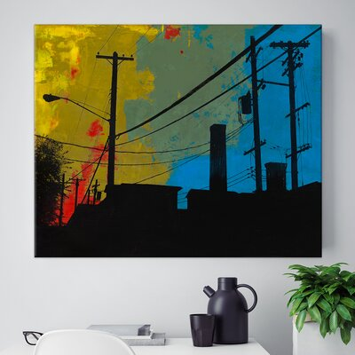 'Industrial West' Photographic Print on Wrapped Canvas
