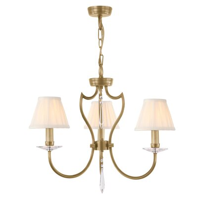 Briawood 3-Light Mini Chandelier Finish: Aged Brass