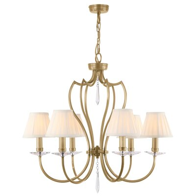 Briawood 6-Light Candle-Style Chandelier Finish: Aged Brass