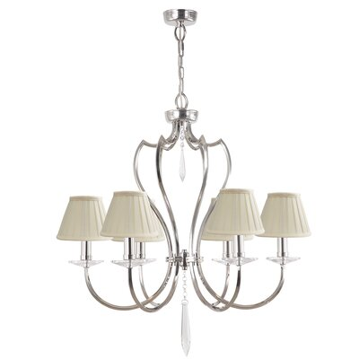 Briawood 6-Light Candle-Style Chandelier Finish: Polished Nickel