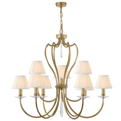 Briawood 9-Light Candle-Style Chandelier Finish: Aged Brass