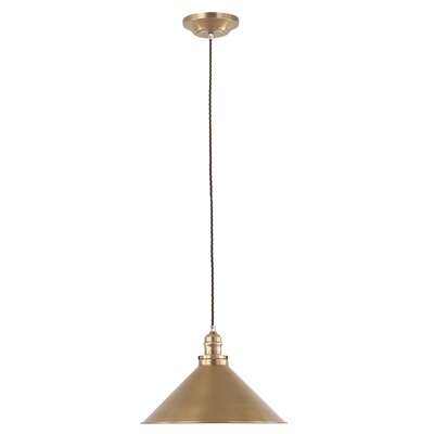 Gaynelle 1-Light Inverted Pendant Finish: Aged Brass