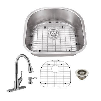 Gauge Stainless Steel 23 x 20 Undermount Kitchen Sink with Faucet and Soap Dispenser