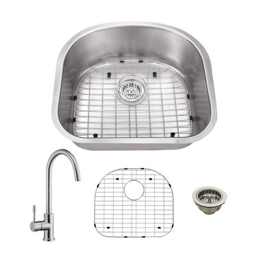 Gauge Stainless Steel 23 x 20 Undermount Kitchen Sink with Faucet