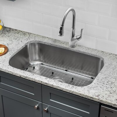 Gauge Stainless Steel 31 x 18 Undermount Kitchen Sink with Faucet and Soap Dispenser