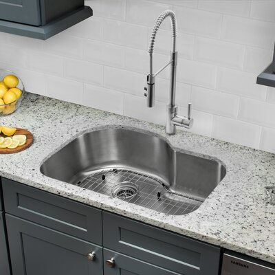 Gauge Stainless Steel 32 x 21 Undermount Kitchen Sink with Faucet and Soap Dispenser