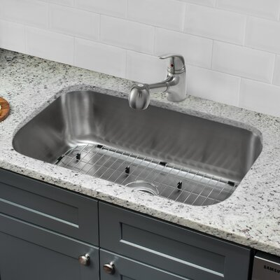Gauge Stainless Steel 30 x 18 Undermount Kitchen Sink with Faucet and Soap Dispenser