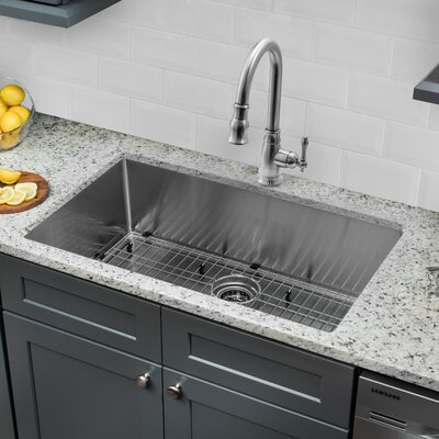 Gauge Stainless Steel Handmade 32 x 19 Undermount Kitchen Sink with Faucet and Soap Dispenser