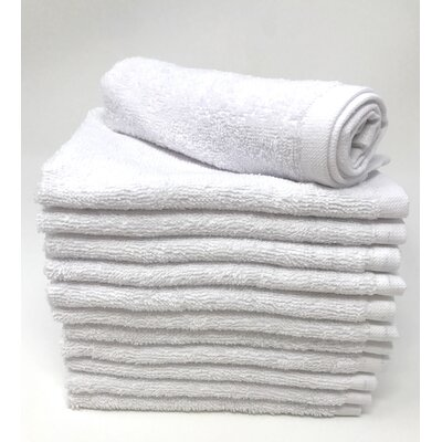 Peabody Washcloth Towel Set Color: White