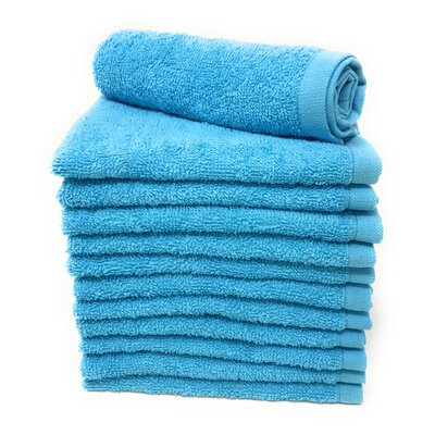 Peabody Washcloth Towel Set Color: Squba Aqua Blue
