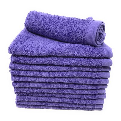 Peabody Washcloth Towel Set Color: Lavender