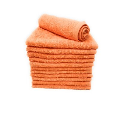 Peabody Washcloth Towel Set Color: Orange