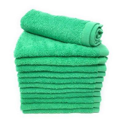 Peabody Washcloth Towel Set Color: Island Green