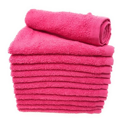 Peabody Washcloth Towel Set Color: Raspberry Pink
