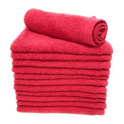 Peabody Washcloth Towel Set Color: Tomato