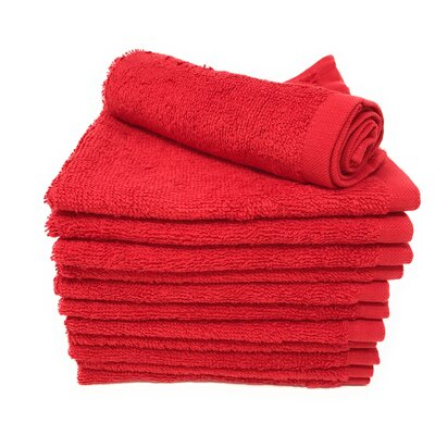 Peabody Washcloth Towel Set Color: High Risk Red