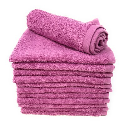 Peabody Washcloth Towel Set Color: Mulberry Purple