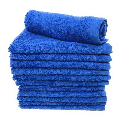 Peabody Washcloth Towel Set Color: Royal Blue