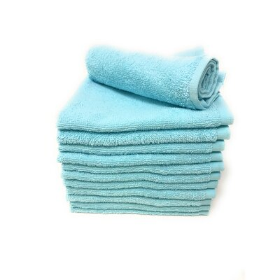 Peabody Washcloth Towel Set Color: Light Turquoise