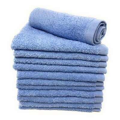 Peabody Washcloth Towel Set Color: Light Blue