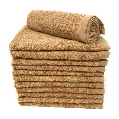 Peabody Washcloth Towel Set Color: Camel