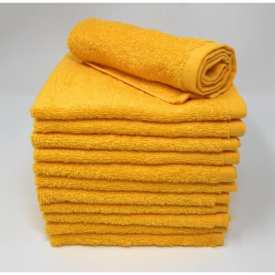 Peabody Washcloth Towel Set Color: Golden Yellow