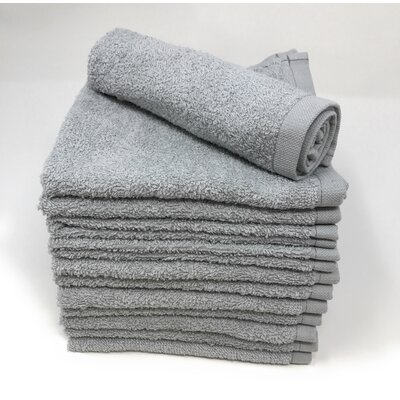 Peabody Washcloth Towel Set Color: Silver