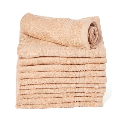 Peabody Cotton Washcloth Towel Set Color: Brown