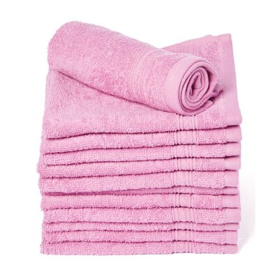 Peabody Cotton Washcloth Towel Set Color: Purple