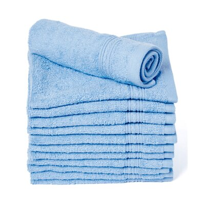 Peabody Cotton Washcloth Towel Set Color: Light Blue