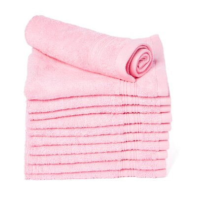 Peabody Cotton Washcloth Towel Set Color: Pink