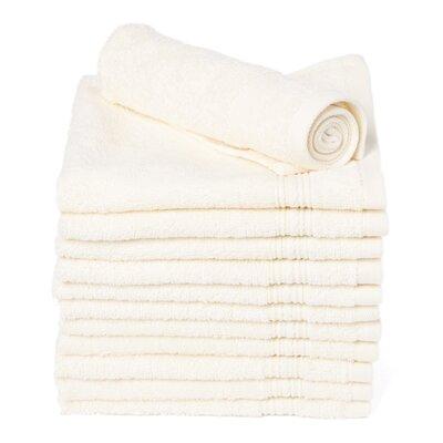 Peabody Cotton Washcloth Towel Set Color: Vanilla Beige