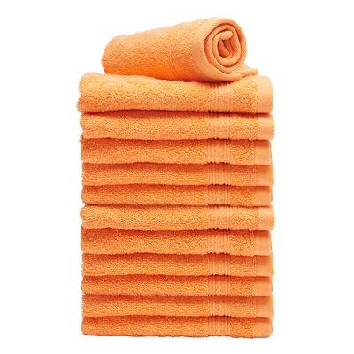 Peabody Cotton Washcloth Towel Set Color: Orange