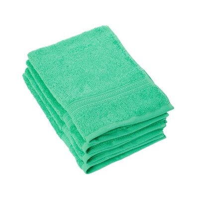 Peabody Cotton Hand Towel Set Color: Island Green