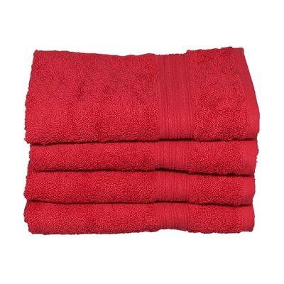 Peabody Cotton Hand Towel Set Color: Tomato