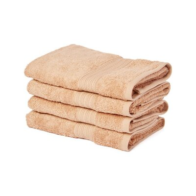Peabody Cotton Hand Towel Set Color: Camel