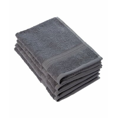 Peabody Cotton Hand Towel Set Color: Gray