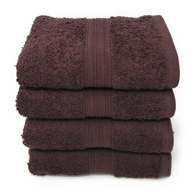 Peabody Cotton Hand Towel Set Color: Dark Brown