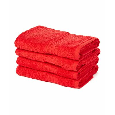 Peabody Hand Towel Set Color: Red