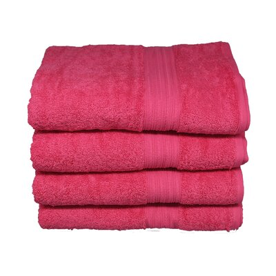 Tori Bath Towels Set Color: Raspberry sorbet