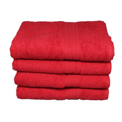 Peabody Hand Towel Set Color: Tomato