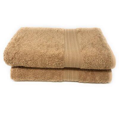 4 Piece Bath towel Towels Set Color: Camel Brown
