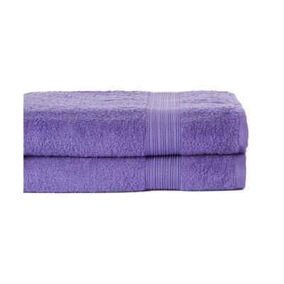 4 Piece Bath towel Towels Set Color: Lavender