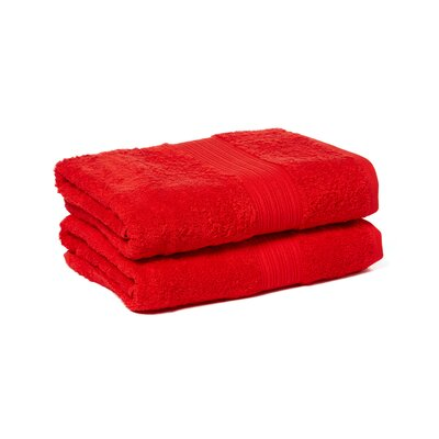 Tori Bath Towels Set Color: Red
