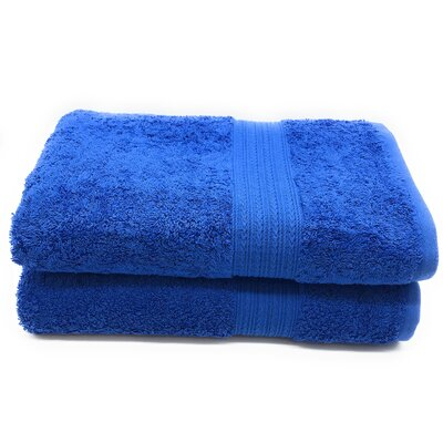 Peabody Bath Towel Set Color: Royal Blue