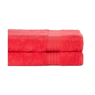 Peabody Bath Towel Set Color: Tomato